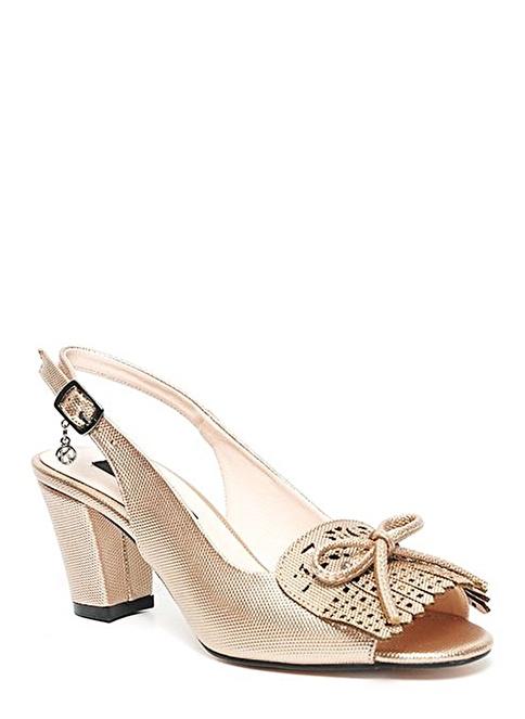 Kuum Kalın Topuklu Ayakkabı Pembe